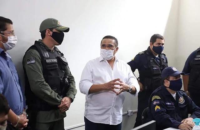 Prefeito de Escada apresenta sala de videomonitoramento da cidade ao comando da Polícia Militar