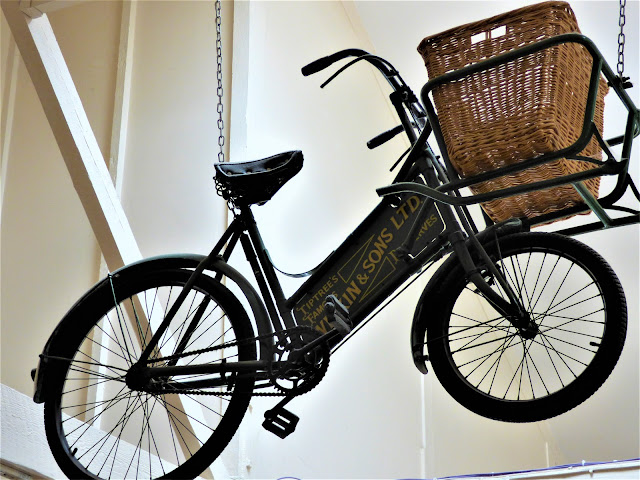 A vintage delivery bicycle at Tiptree Tea Rooms in Essex