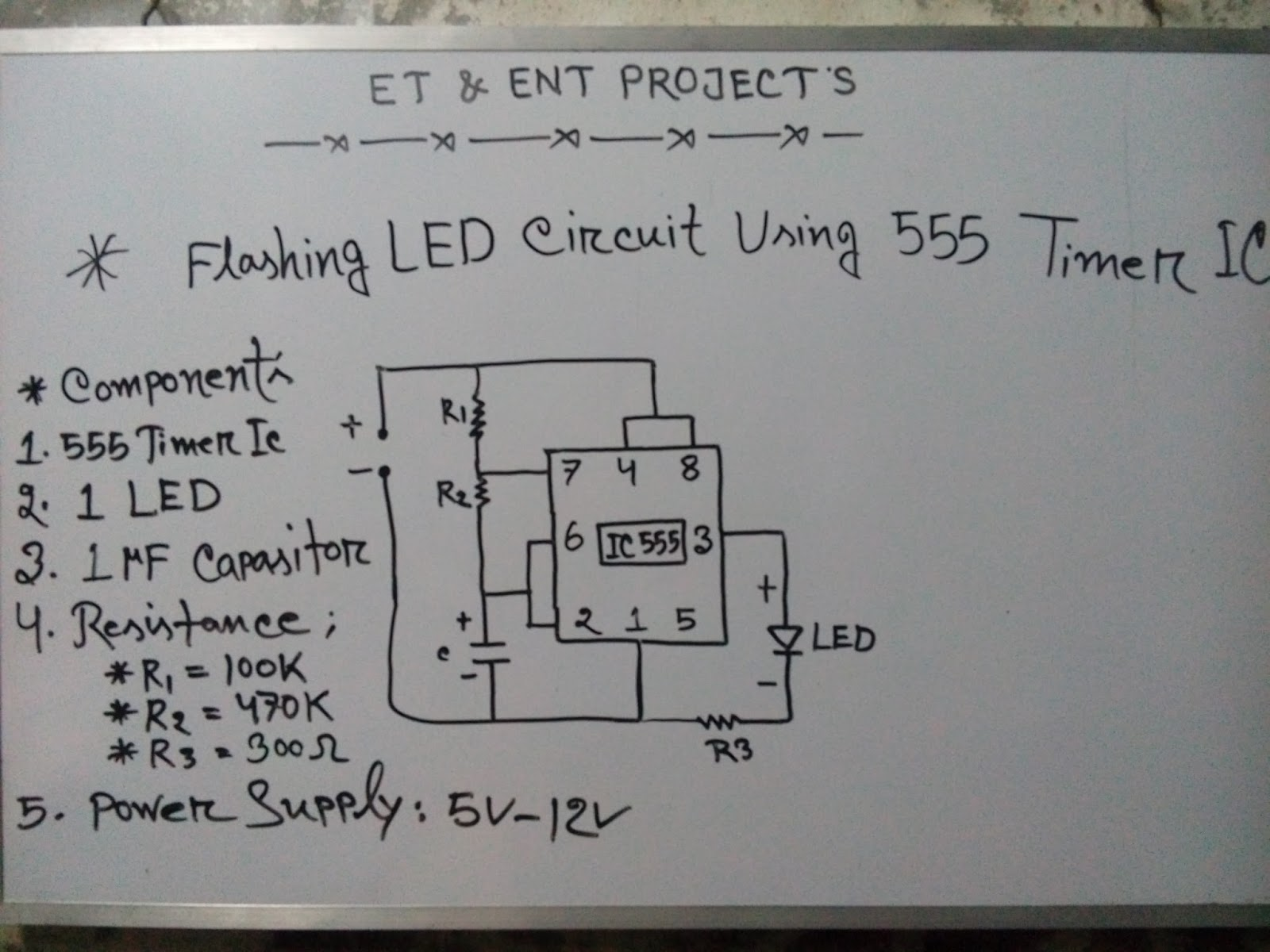 555 Timer Led Flasher Circuit 1600 1077