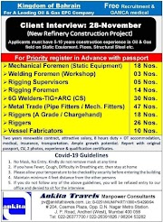 BAHRAIN JOBS : REQUIRED FOR A LEADING OIL AND GAS COMPANY IN BAHRAIN .g