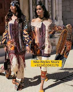 Shehla Chatoor Embroidered Lawn '17 for Eid By Shariq Textiles