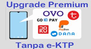 Dalam beberapa situasi, selalu ada saja kendala dalam hal Upgrade Premium e-Wallet seperti Dana, OVO, Linkaja, dan Gopay. Misalnya ktp sudah burem, rusak dll. Kali ini, saya akan share bagaimana caranya upgrade premium e-Wallet tanpa menggunakan ktp asli dan terbukti berhasil karena saya sudah coba sendiri.