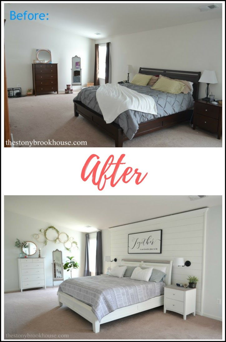 Master Bedroom Before & After