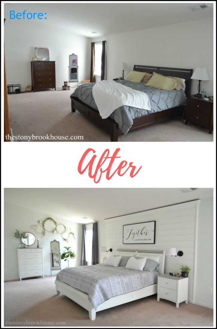 Master Bedroom Before & After