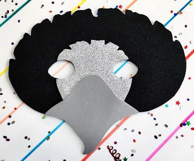 Máscara de buitre  goma Eva