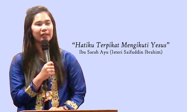 Kesaksian Sarah Ayu Istri Pendeta Saifudin Ibrahim