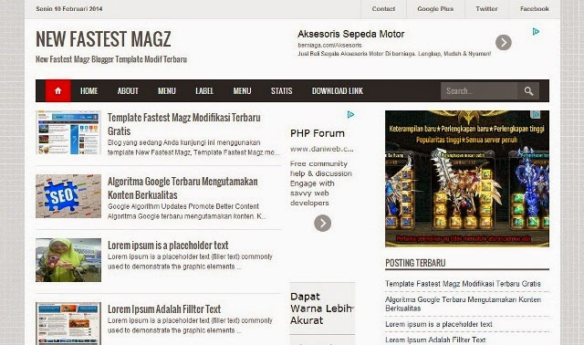 New Fastes Magz responsive blogger template