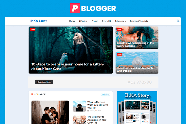 template blogger inka story