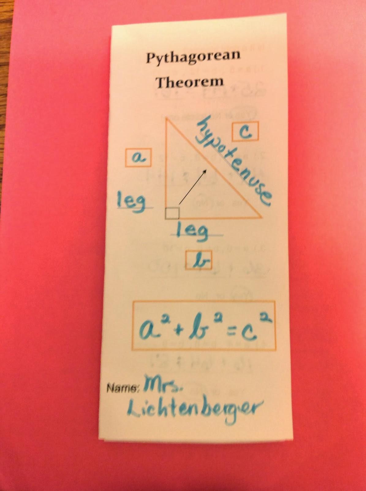 Equation Freak Getting Ready To Teach Pythagorean Theorem