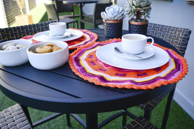 Receita: Sousplat Colorido de Crochê com Fio Duna