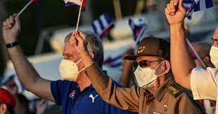 March In Cuba In Support Of Government
