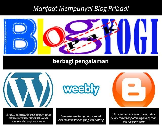 Manfaat Mempunyai Blog Pribadi