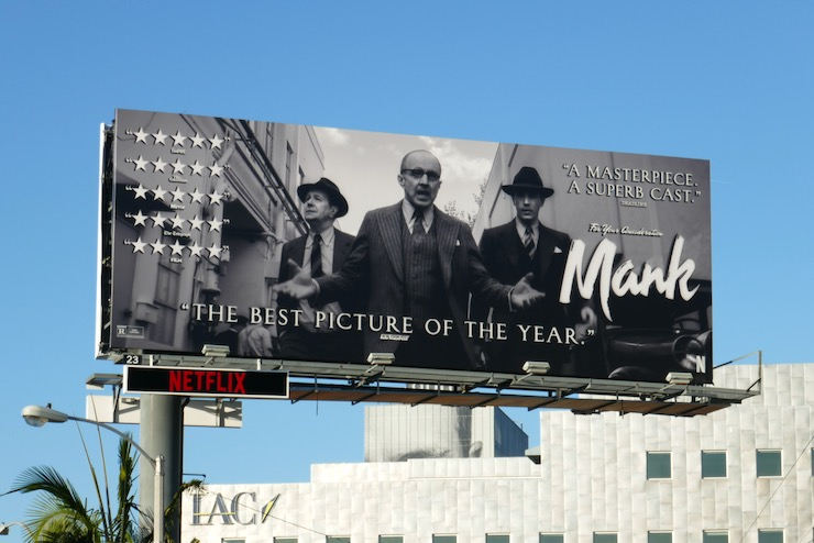 Mank film FYC billboard