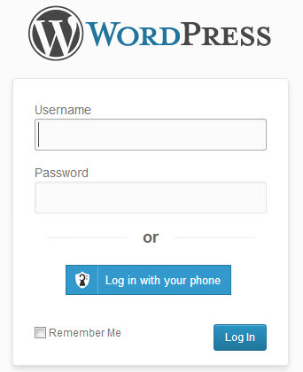 LOG IN TO WORDPRESS BY PHONE WITH CLEF