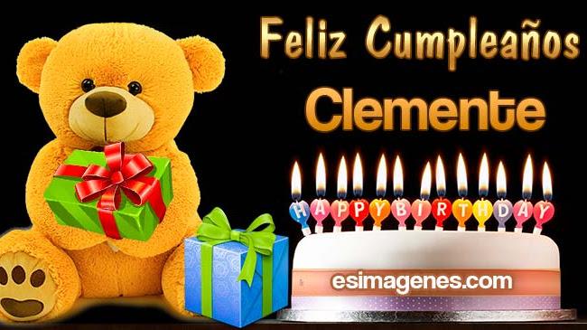 Feliz cumpleaños Clemente