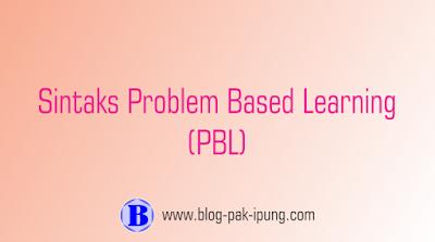 model pembelajaran problem based learning pbl