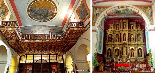 Coro e altar-mor da Igreja da Candelária, em Bogotá, Colômbia