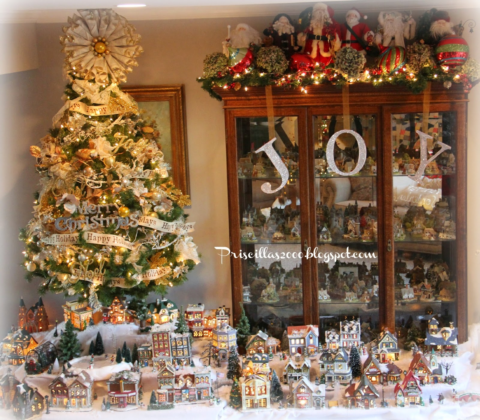 priscillas it s finished the 2014 christmas village