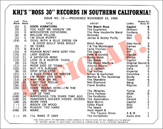 KHJ Boss 30 No. 72 - November 16, 1966