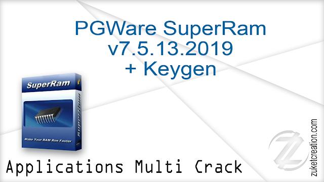 PGWare SuperRam v7.5.13.2019 + Keygen  |  3.61 MB