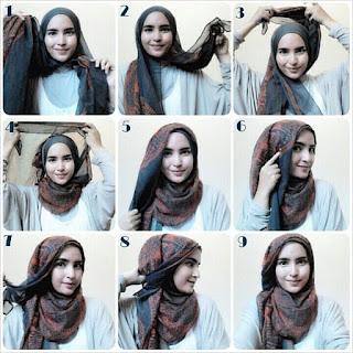 Gambar Tutorial Hijab Modern Syari Cantik Menawan