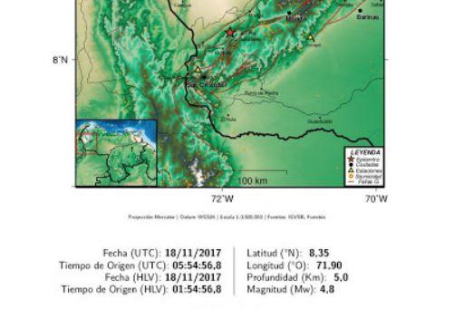 Tres sismos de casi 5 grados hacen madrugar al Estado Mérida