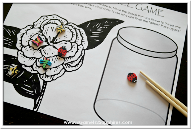 Free printable Chopstick Race Game for a fun Chinese New Year Classroom Activity     3 Garnets & 2 Sapphires