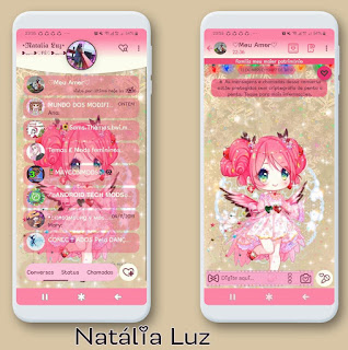 Pink Doll Theme For YOWhatsApp & Fouad WhatsApp By Leidiane