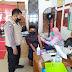Bhabinkamtibmas Polsek Jatitujuh Monitoring Vaksinasi di Gerai Vaksinasi Presisi Desa Panyingkiran