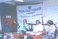 L to R: Mr T Theethan,Mr Sashi Kumar, Dr U Srinivasa Raghavan and K. Srinivasan