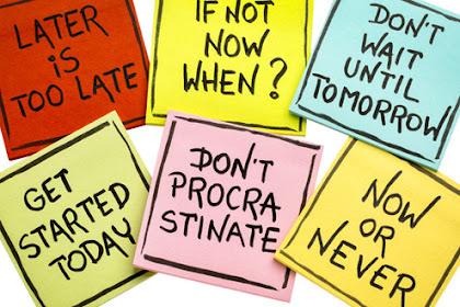 Pengertian dan Karakteristik Prokrastinasi Akademik (Alasan Menunda Belajar atau Kerja Tugas)