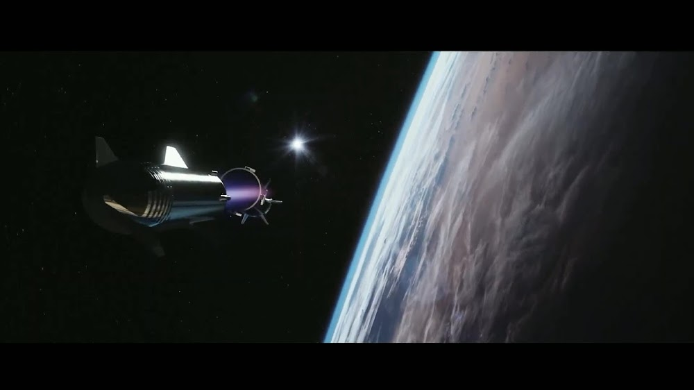 SpaceX's Super Heavy booster separating from Starship