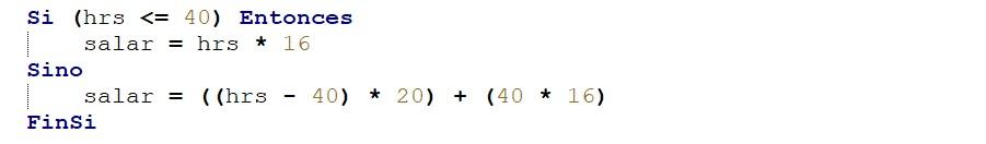 Calcular salario de un obrero en algoritmos con PSeInt