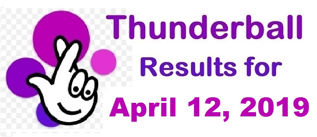 Thunderball results for Friday, April 12, 2019