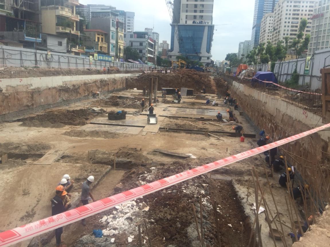 Tiến độ thi công tại chung cư Hanoi Aqua Central 44 Yên Phụ