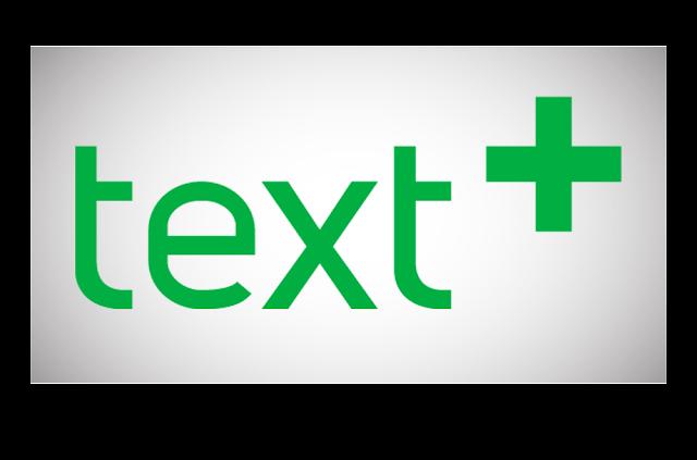تطبيق text plus