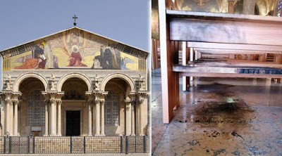 Una persona ha intentado incendiar la Basílica de Getsemaní dentro del Huerto de los Olivos de Jerusalén