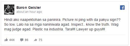 Baron Geisler on Ping Medina's Accusations: 'Di Ako Naapektuhan Ng Paninira'