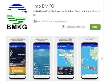 Aplikasi Pendeteksi Gempa Info Gempa Indonesia (BMKG)