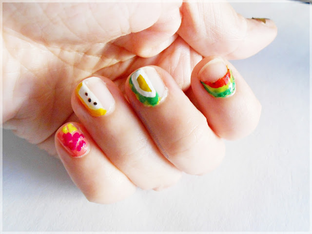 Summer negative fruit nail art design using product from Withshyan