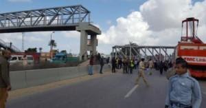 """حبس سائق الونش المتسبب في سقوط كبري """"المشاة"""" بالإسكندرية"""