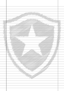 Papel Pautado do Botafogo rabiscado PDF para imprimir na folha A4