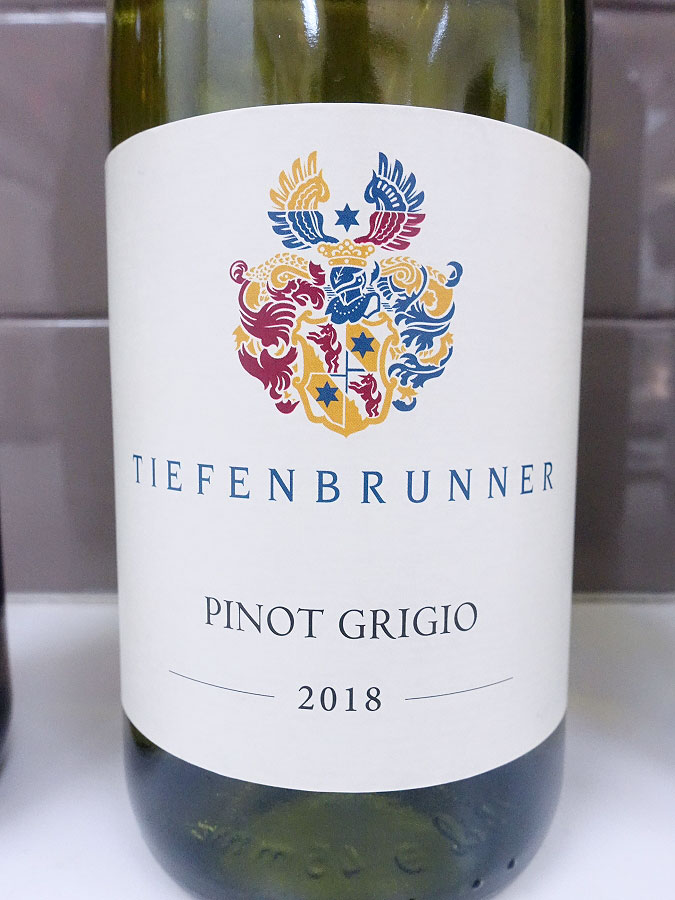 Tiefenbrunner Pinot Grigio 2018 (89 pts)
