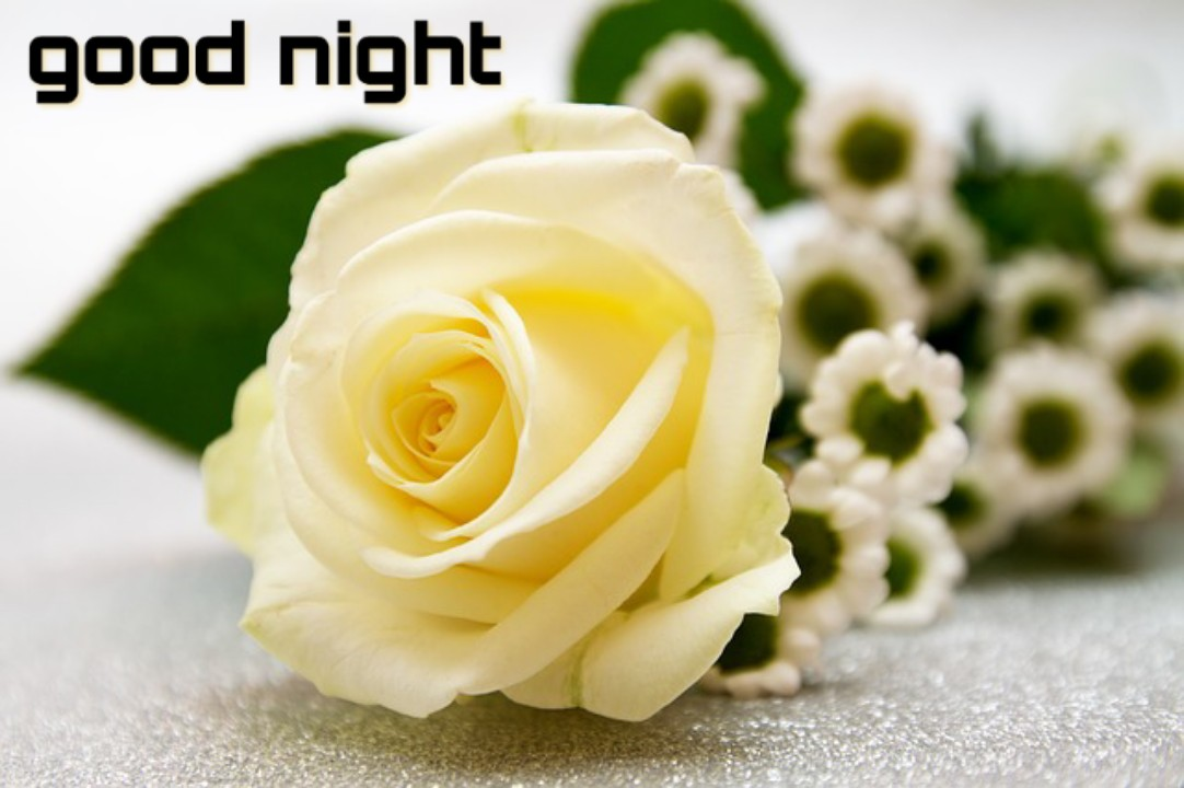 Good night images with flowers
