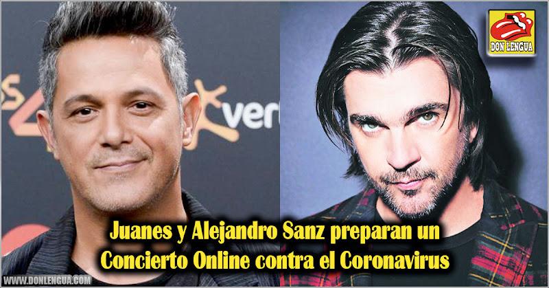 Juanes y Alejandro Sanz preparan un Concierto Online contra el Coronavirus
