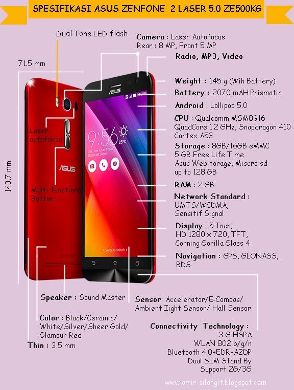 Asus Zenfone 2 Laser 5.0 ZE500KG