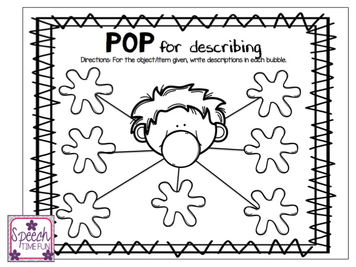 POP! Personal Outside Practice! (for speech and language
