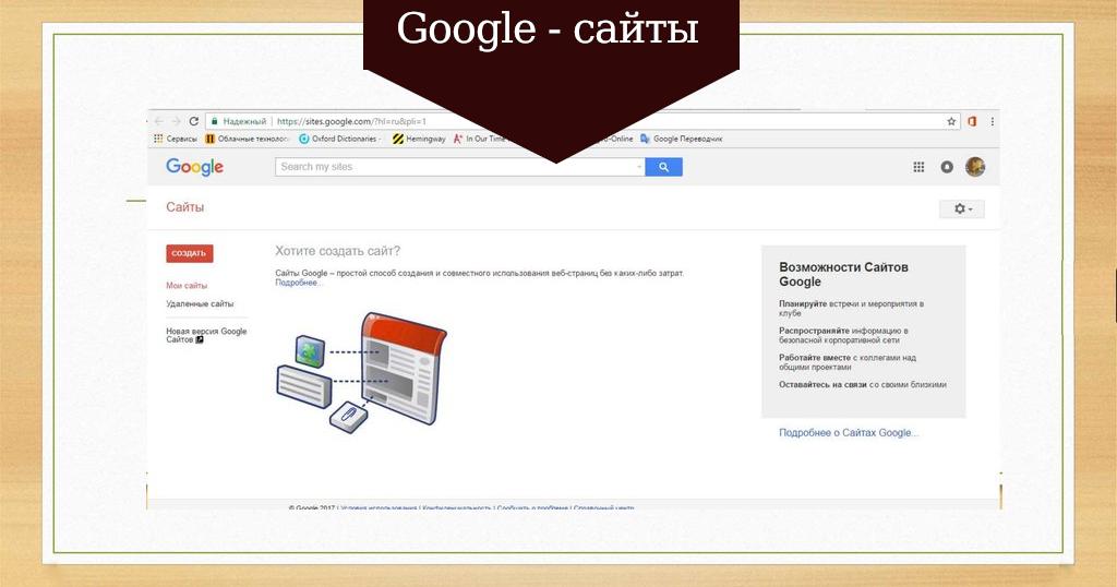 Создание сайтов с sites google продвижение сайта украина цена