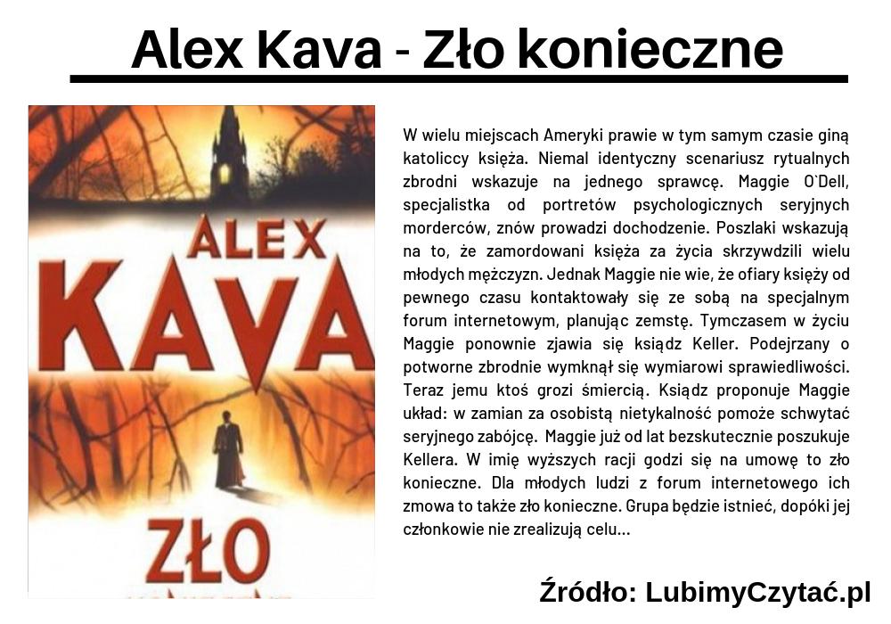 Alex Kava - Zło konieczne, Topki, Marzenie Literackie