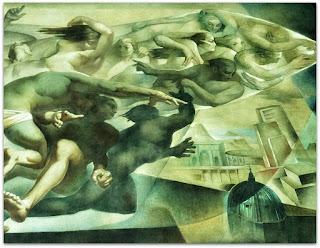 Metaforização da Conquista do Espaço e Visão Aérea de Uma Cidade Simbólica - 'A Conquista do Espaço', Aldo Locatelli (1953) - Aeroporto Salgado Filho, Porto Alegre